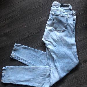 Zara Denim Bleached out Skinny Jeans size 0